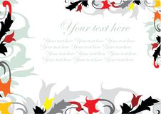 Flourishes decorative banner Stock Photos