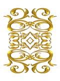 Flourishes del oro de las decoraciones stock de ilustración