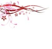Flourishes di colore rosso Immagine Stock Libera da Diritti