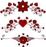 Flourishes florais do Valentim Imagem de Stock