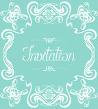Flourishes Frame Invitation Royalty Free Stock Photos