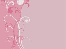 Flourishes illustration. Two vines with flourish shapes illustration Royalty Free Stock Images