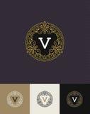 Flourishes monogram logo. Flourishes glitter gold monogram logo. Identity design for cafe, shop, store, restaurant, boutique, hotel, heraldic, fashion and etc vector illustration