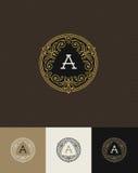 Flourishes monogram logo stock illustration
