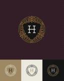 Flourishes monogram logo vector illustration