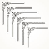 Flourishes ornate frame or corner elements. Flourishes ornate frame or corner design elements Stock Photos