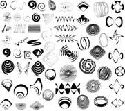 Flourishes and swirls. Lots of flourish style illustrations Stock Photo