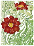 Flourishing background. Abstract colourful flowers. See the rest in the series as well royalty free illustration