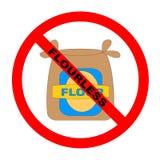 flourless κείμενο συμβόλων Στοκ εικόνα με δικαίωμα ελεύθερης χρήσης