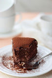 Flourless chocolate cake Stock Photo