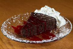 Flourless chocolate cake royalty free stock photography