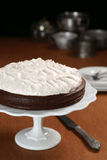 Flourless Chocolate Cake with Whipped Meringue Topping Stock Image