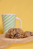 Flourless Oatmeal Cookies Stock Photos