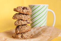 Flourless Oatmeal Cookies Royalty Free Stock Images