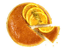 Flourless Orange Cake Top View Isolated Royalty Free Stock Images