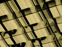 Flouro Reflections. Absract shot of ceiling lights Stock Photo