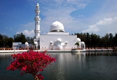 Flouting mosque Stock Images
