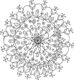 Flover ornament. Flover hand drow ornament doodle Royalty Free Stock Photography
