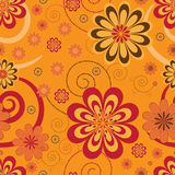 Flover pattern. On orange background Royalty Free Stock Photography