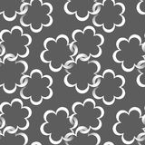 Flover pattern. Seamless pattern with paper flowers Stock Photo