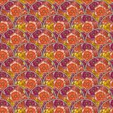 Flover wallpaper in the style of Art Nouveau. Seamless vector background Royalty Free Stock Image