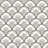 Flover wallpaper in the style of Art Nouveau. Seamless vector background Royalty Free Stock Photography