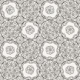 Flover wallpaper in the style of Art Nouveau. Seamless vector background Stock Photo