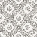 Flover wallpaper in the style of Art Nouveau. Seamless vector background Stock Photos
