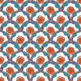 Flover wallpaper in the style of Art Nouveau. Seamless vector background Stock Photography