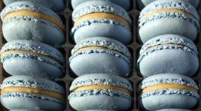 Flovers bleeMacarons zasychają deser słodycze przysmak - cukierki - grylaż - smakołyk - zdjęcie stock