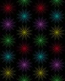 Flovers geometrici decorativi sottragga la priorità bassa Immagine Stock