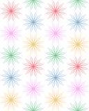 Flovers geometrici decorativi sottragga la priorità bassa Fotografia Stock Libera da Diritti