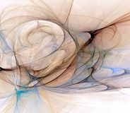 Flow. Blue, black, and brown abstract fractal design of deeply embedded swirls and folds Stock Photography