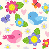 Flow_birds_patn Royalty Free Stock Image