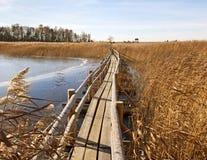 Flow boardwalk. Royalty Free Stock Images