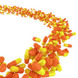 Flow of capsules Royalty Free Stock Images