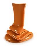 Flow caramel vector illustration. Flow caramel, vector illustration,  on white background Stock Photo