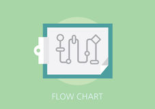 Flow chart concept flat icon Stock Images