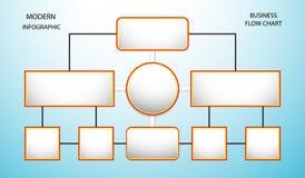 Flow chart information Infographics element connect data Business diagram market on light blue background vector illustration.  Stock Photos