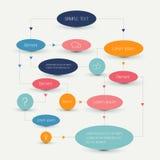 Flow chart scheme. Infographics elements. Vector design Stock Images