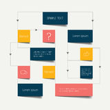 Flow chart scheme. Stock Images