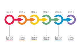Flow chart. Vector flow chart template, with arrows Stock Image