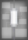 Flow chart, vitro style background Royalty Free Stock Photo