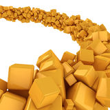 Flow of cubes Stock Photography
