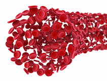 Flow of 3d red blood cells royalty free stock photography