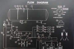 Flow diagram Stock Photo