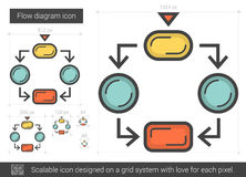 Flow diagram line icon. Royalty Free Stock Photography