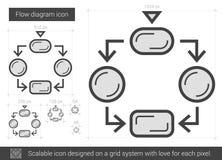 Flow diagram line icon. Royalty Free Stock Photos