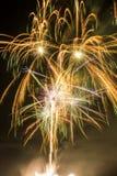 Flow of fireworks bursting Stock Image