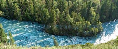 The flow of Kucherla. Trekking in the Altai Mountains Stock Photos
